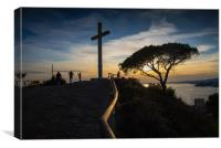 The Cross of Benidorm, Canvas Print