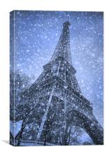 Tower in the Snow, Canvas Print