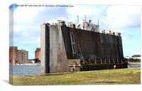 A Caisson in dock, Canvas Print