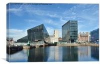 View across Canning Dock, Liverpool., Canvas Print