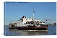 The Mersey Ferry Royal Daffodil, Canvas Print