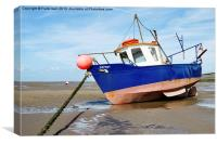 Waiting for the incoming tide, Canvas Print