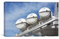 Sea safe units on a Cruise Liner, Canvas Print