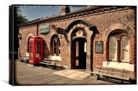 Hadlow Road Station, Wirral, Grunged, Canvas Print