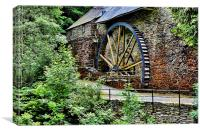Water wheel from times gone by, Canvas Print