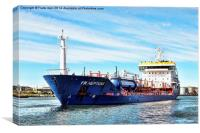 YM Neptune sailing to her berth in Birkenhead Dock, Canvas Print