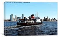 The Mersey ferryboat Royal Daffodil, Canvas Print