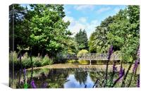 A secluded lake in Birkenhead Park, Canvas Print