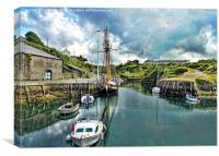 The Inner Amlwych Harbour, Anglsey, North Wales, Canvas Print