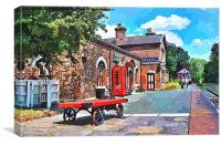 Hadlow Road Station artistically produced, Canvas Print