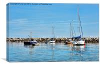 A view of Rhos-on-Sea harbour, Canvas Print