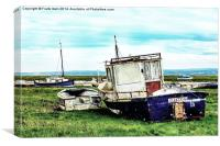 abandoned and worse for wear boats, Canvas Print