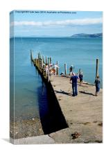 Crabbers in Rhos-on-Sea, Canvas Print