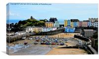 Artistic view of Tenby Harbour, Canvas Print