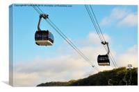 Cable cars in Koblenz, Germany, Canvas Print