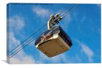 Cable car in Koblenz, Germany , Canvas Print