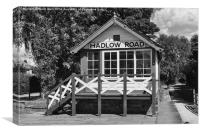 Signal Box, Hadlow Road Station, Wirral, Canvas Print