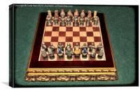 Complete Medieval chess set, Canvas Print