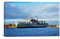 RFA Fort Rosalie, Auxiliary Fleet Support (AFSH) , Canvas Print