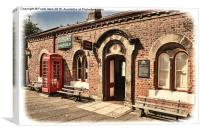 Hadlow Road Station – Grunged effect, Canvas Print
