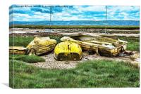Dereliction at Heswall Beach, Wirral, Canvas Print
