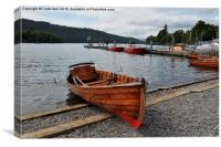 A rowing boat on Windermere, Canvas Print