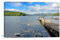 One of the many piers on Windermere, Canvas Print