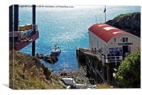 St Justinians, Lifeboat house &Ramsay Sound, Canvas Print