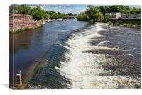The weir at Chester on the River Dee, Canvas Print