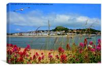 Deganwy from across the river in Conway, Canvas Print