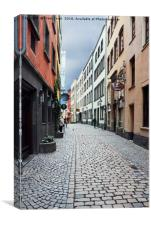 A side street in Cologne, Canvas Print