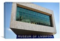 The Museum of Liverpool, Pier Head., Canvas Print