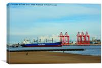 Liverpool 2 new container port, Canvas Print