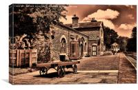 Hadlow Road Station, Willaston, Wirral, UK, Canvas Print