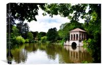 Birkenhead Parks, Boat House & swiss Bridge, Canvas Print