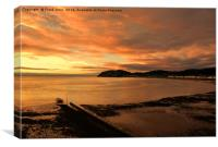 Sunrise in Llandudno, North Wales, , Canvas Print