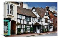 Tudor House Museum, Upton-upon-Severn, Canvas Print