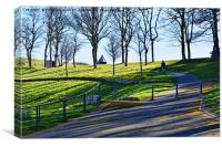 """A section of """"Happy Valley"""" on Gt. Orme, Canvas Print"""