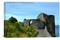 Part of Aberystwyth Castle, Canvas Print