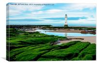 Perch Rock Lighthouse (Oil painting), Canvas Print