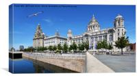 Liverpool's Three Graces., Canvas Print