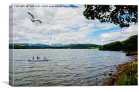 a Quiet Windermere from the lake edge., Canvas Print