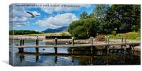 One of the many piers on Derwent Water, Canvas Print