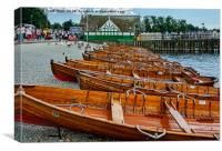 Rowing boats available for hire., Canvas Print