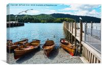Rowing boats on Windermere, Canvas Print