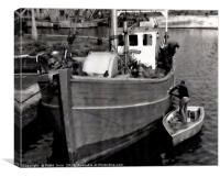 A fishing boat - running maintenance, Canvas Print
