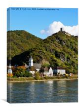 Sterrenberg castle on River Rhine, Germany, Canvas Print