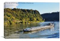 Rhine boat on its way to the Loreley Rock., Canvas Print
