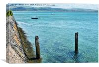 Aberdovey water front., Canvas Print