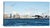 Liverpool's Waterfront & 'Three Graces', Canvas Print